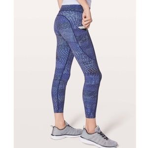 Lululemon Fast & Free 7/8 Tight II in Linear Flux